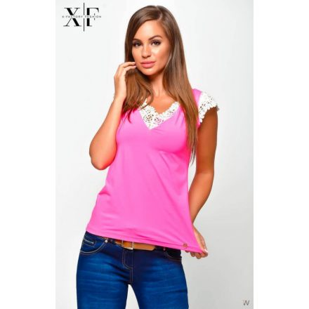 X-FACTORY LACY TOP - PINK (S)