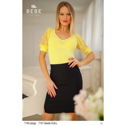 BEBE LÉNA TOP - YELLOW (ONE SIZE)