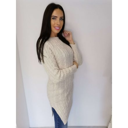LEXY KNITTED DRESS - BEIGE