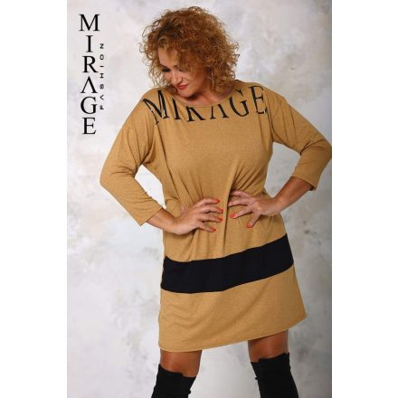 MIRAGE BORION DRESS - BROWN ( ONE SIZE )
