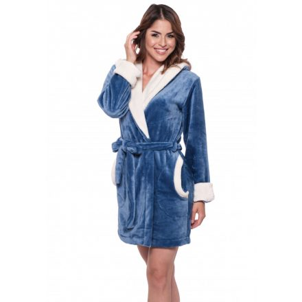 LOVE POPPY EMBROIDERED ROBE - BLUE (XS)