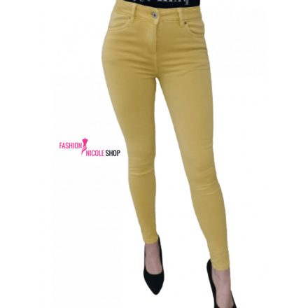 PUSH UP JEANS - MUSTARD (S)