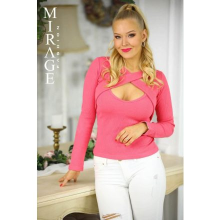 MIRAGE PRINT TOP - PINK (ONE SIZE)
