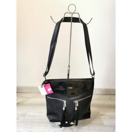 VIA55 ZIPPY BAG - BLACK