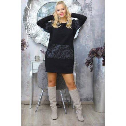 Fashion Nicole Shop - MIRAGE TRUMP TUNIKA - FEKETE (ONE SIZE)