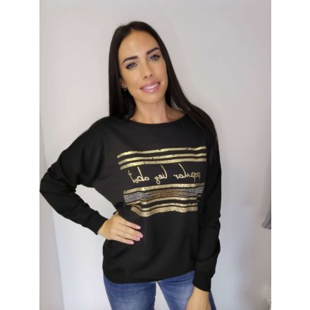 POPULAR PULLOVER - BLACK (ONE SIZE)
