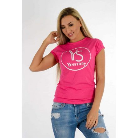 YESSTORY T-SHIRT - PINK ( ONE SIZE )