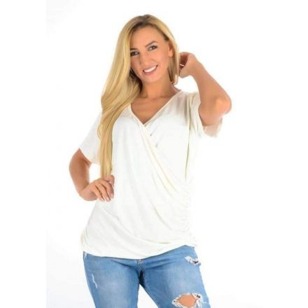 Fashion Nicole Shop - YESSTORY FELSŐ - EKRÜ ( ONE SIZE )